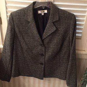 Jones New York Studio Separates black/white blazer
